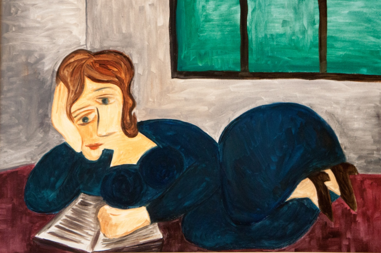 Variation on Reclining Woman Reading by Picasso