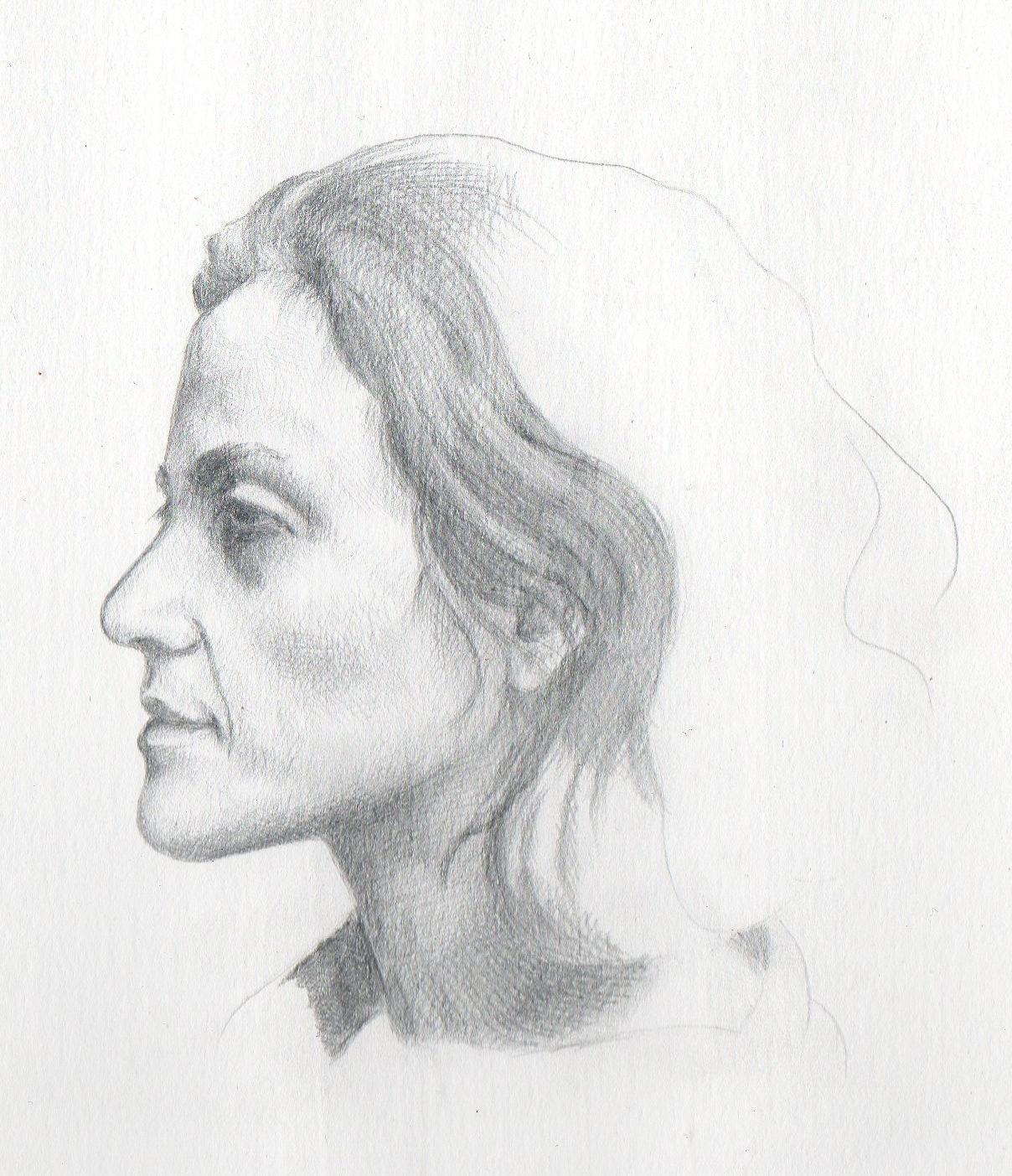 Silverpoint Self-Portrait – Work inProgress