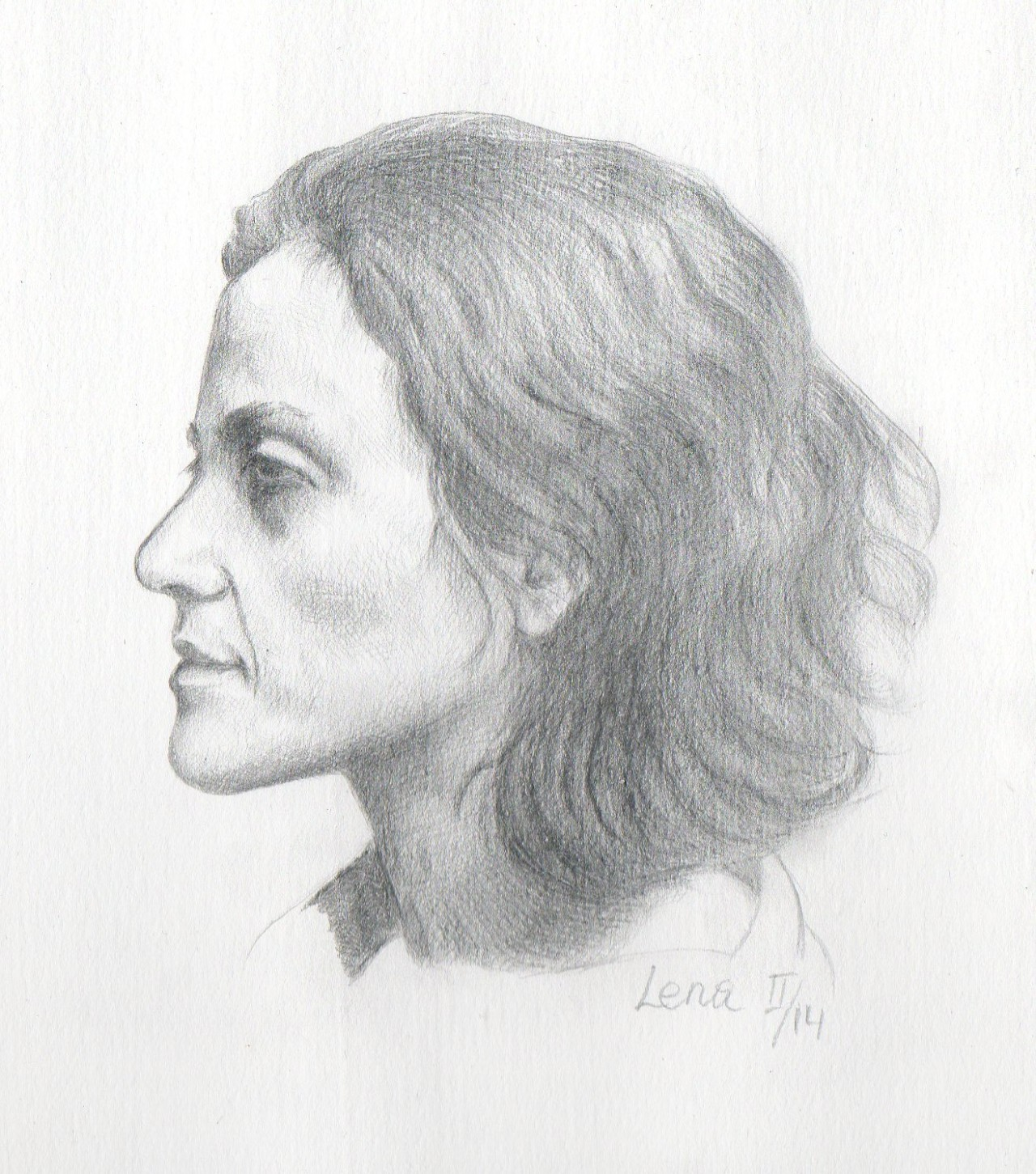 Silverpoint Self-Portrait – Finished
