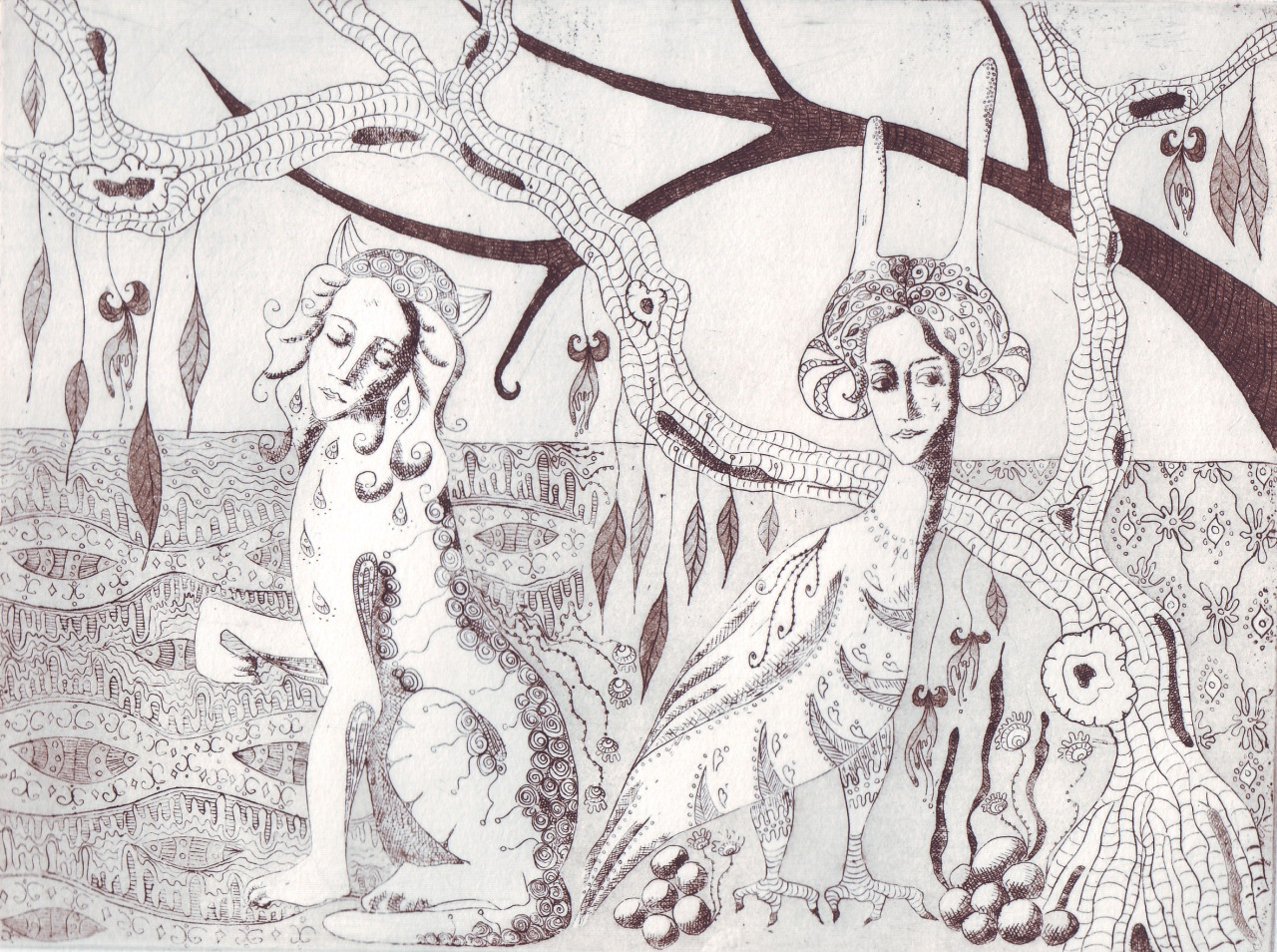 Intaglio Etching and Aquatint – She hides alllooks…